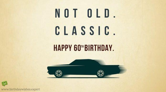60 års fødselsdag bil
