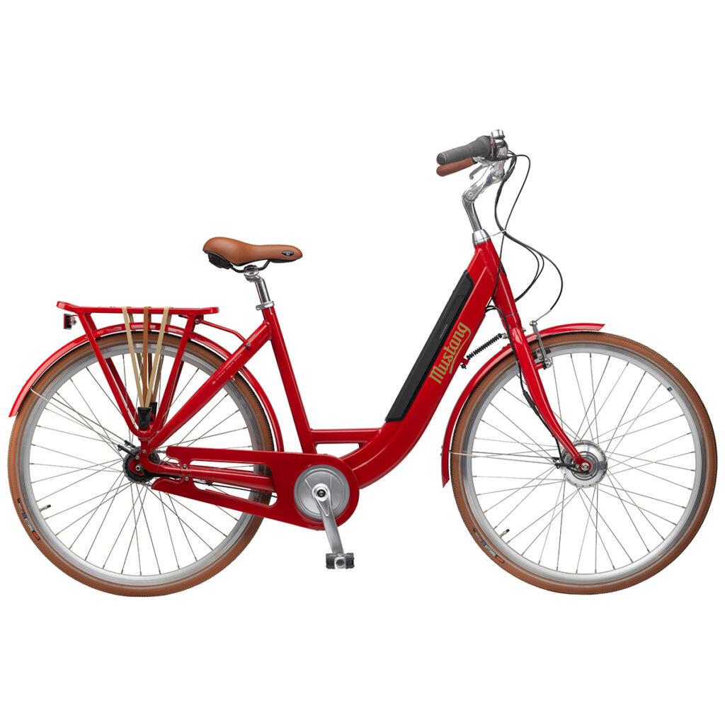 mustang-emotion-dame-elcykel-med-7-gear-roed-med-integreret-batteri-og-gaa-funktion