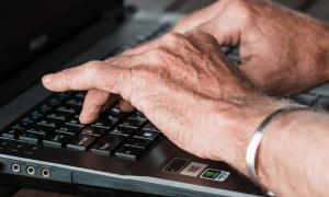 senior typing